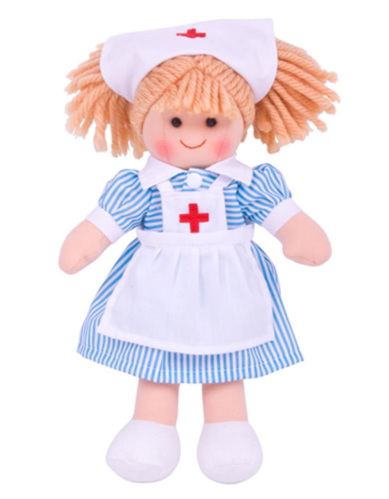 Bigjigs Pop Stof Verpleegster Nancy