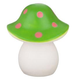 Lamp Groene Paddenstoel Roze Stip