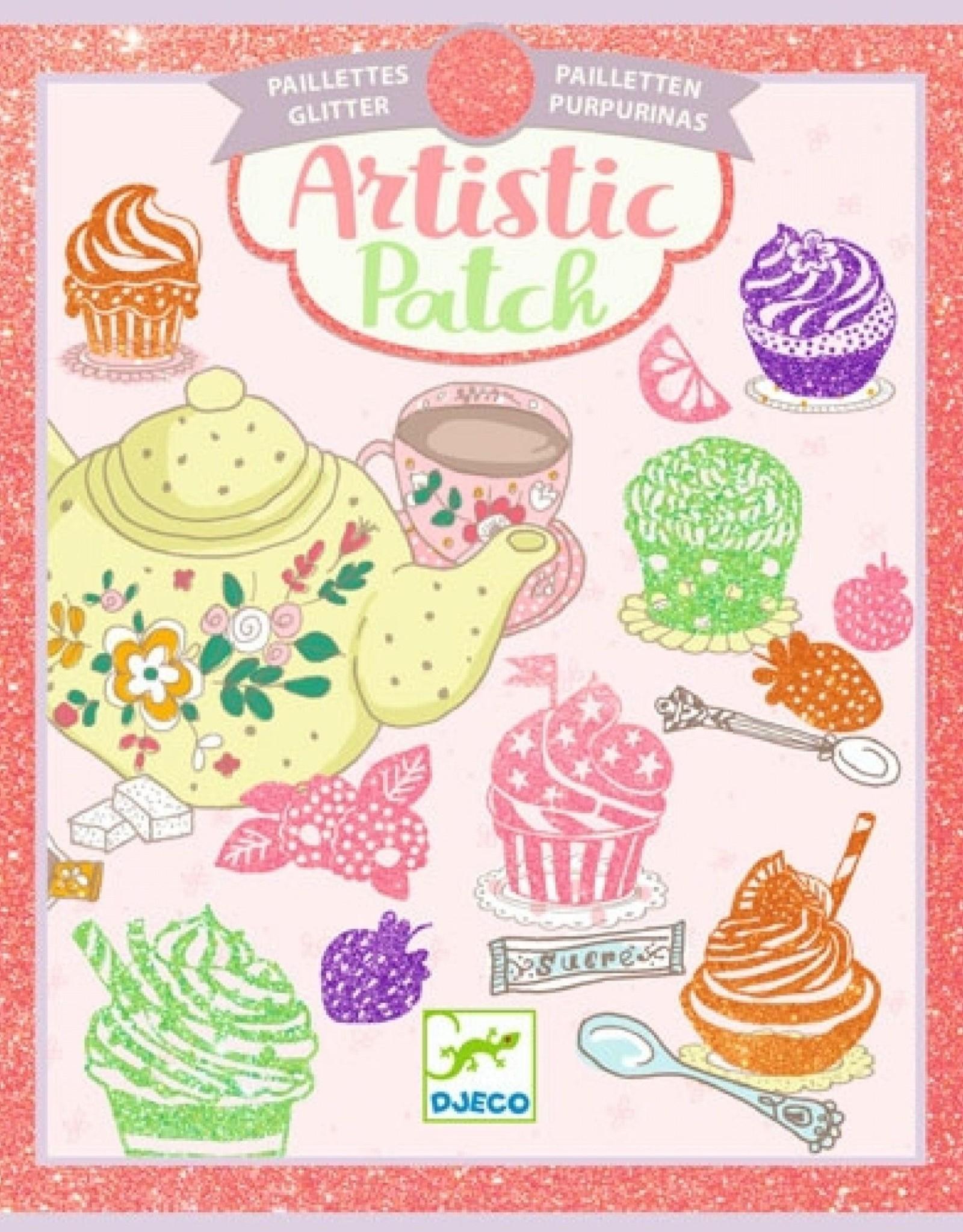 Djeco Artistieke Foliekaarten Glitter Snoepgoed