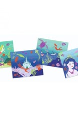 Djeco Artistieke Foliekaarten Glitter Zee