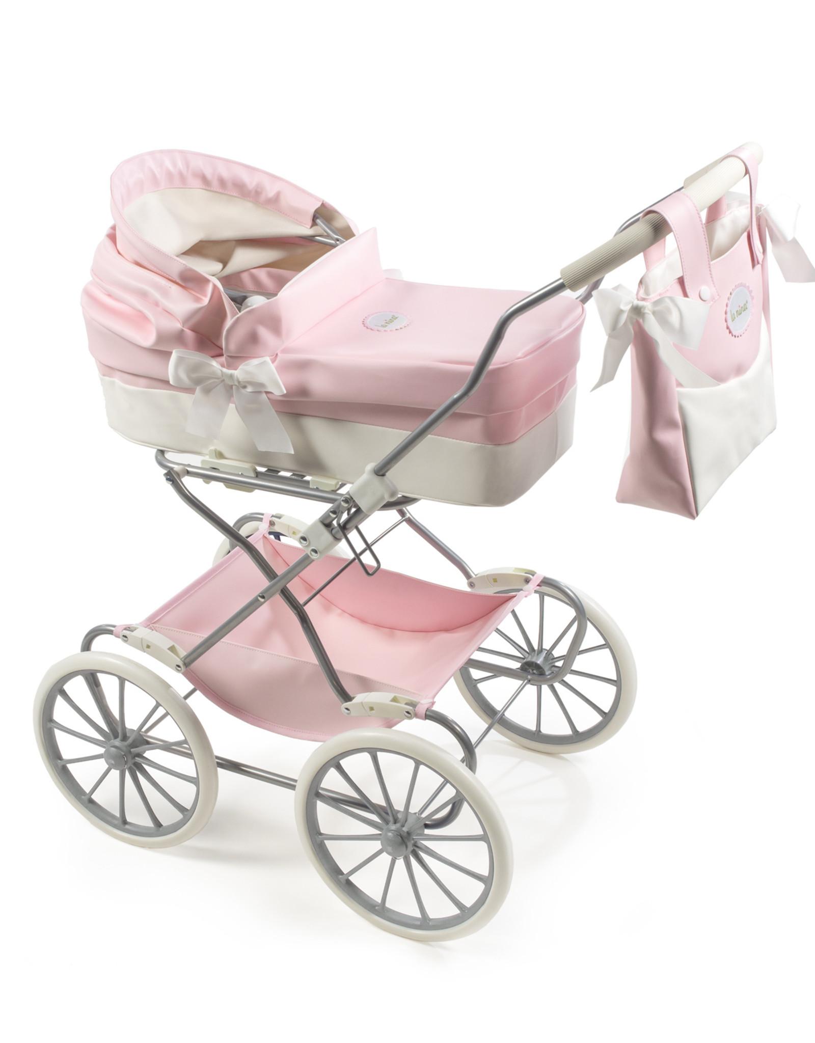 La Nina Poppenwagen Roze Groot