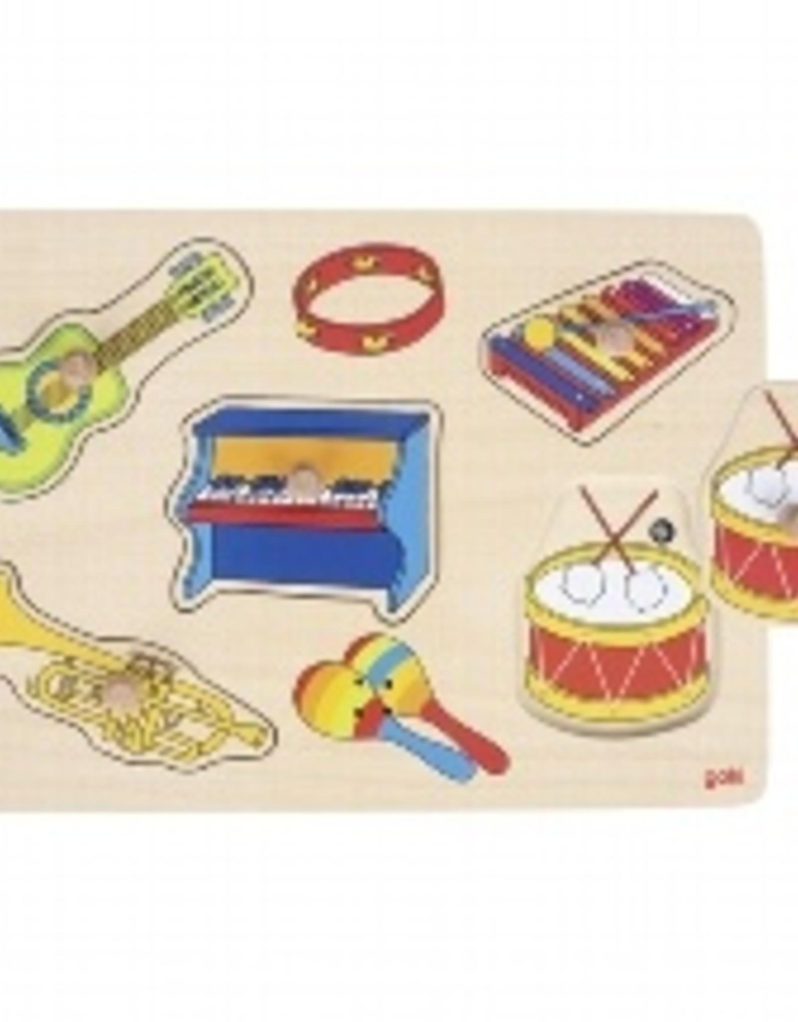 Goki Geluid Puzzel Instrumenten 1+
