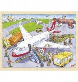 Goki Puzzel Vliegveld 3+