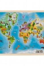 Goki Puzzel Wereld 4+