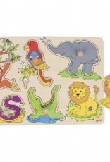 Goki Geluid Puzzel Jungle 1+
