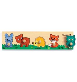 Djeco Puzzel Knop Forest 'n' Co