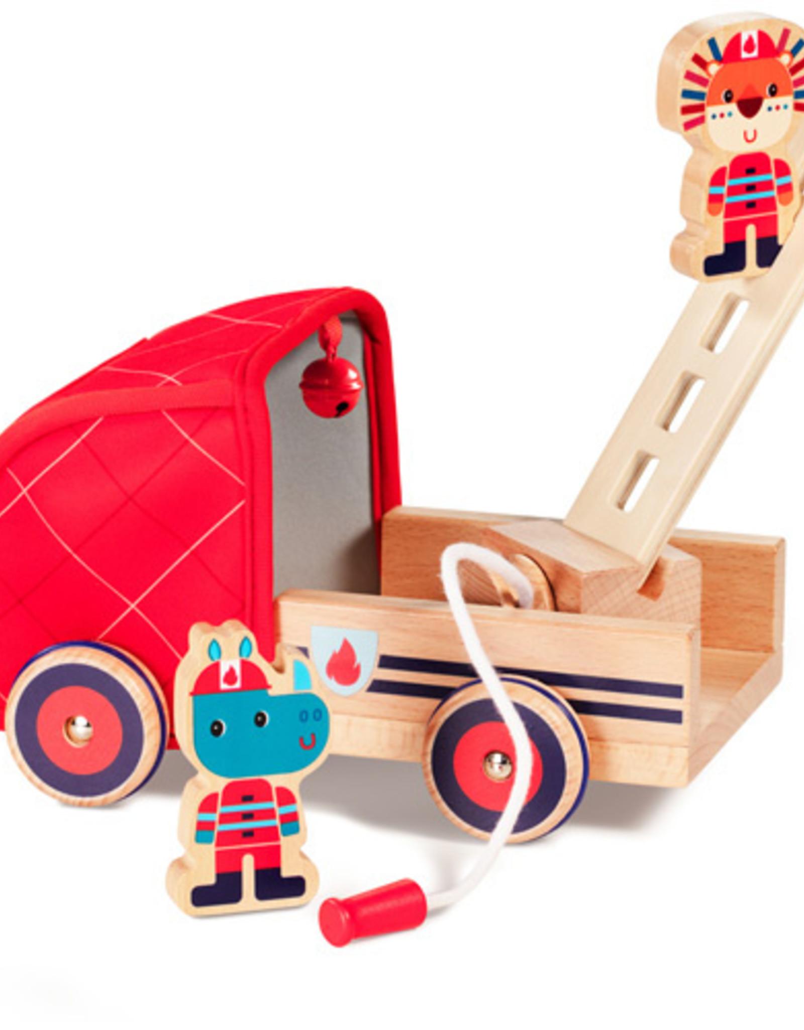 Lilliputiens Marius brandweerwagen