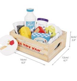 Le Toy Van Kaas en Zuivel in Krat