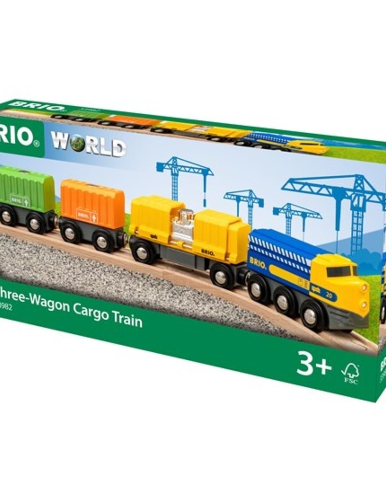 Brio Vrachttrein met 3 Wagons