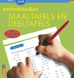 Deltas Oefenblaadjes maaltafels & deeltafels 7-8