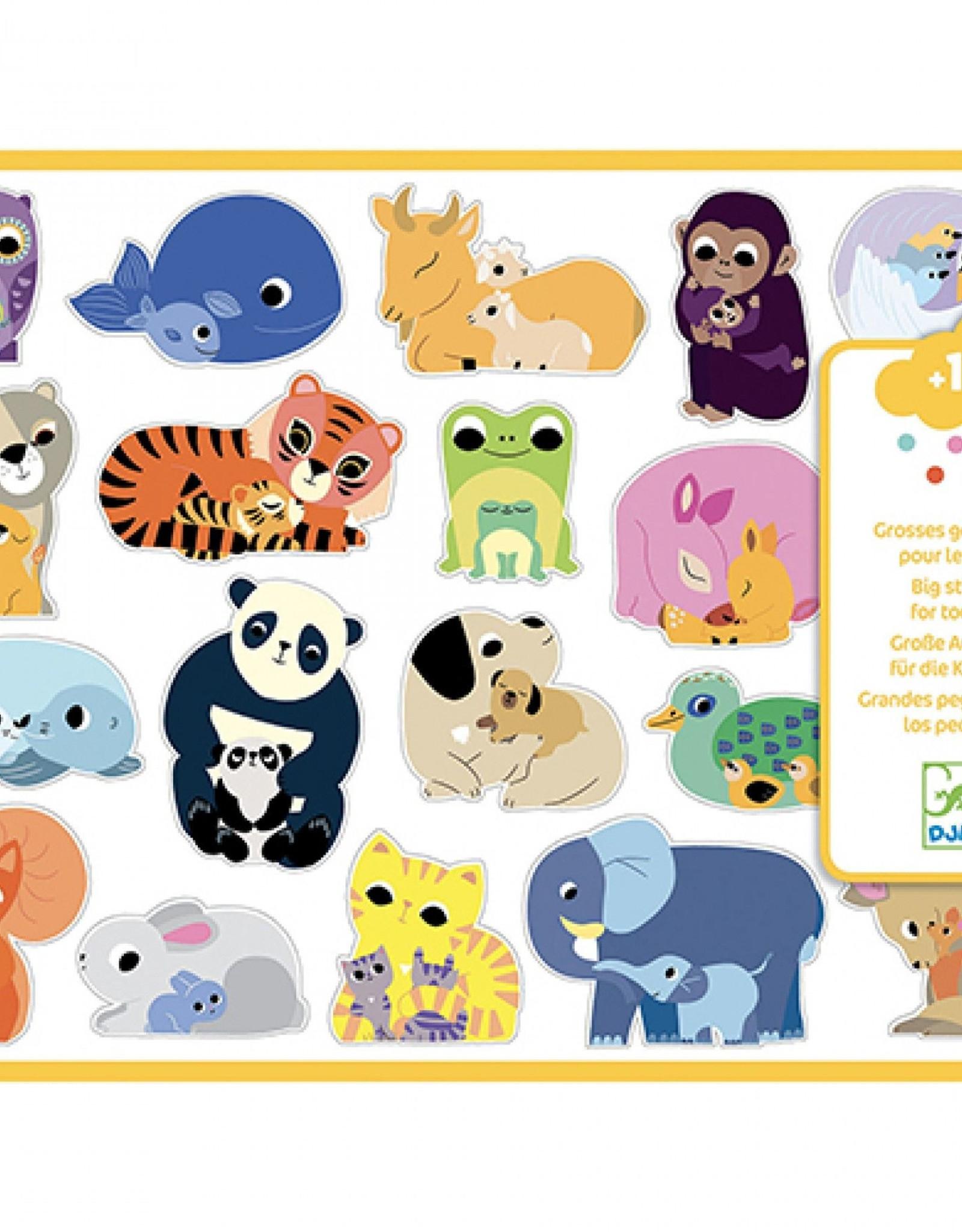 Djeco Stickers Groot Babydieren