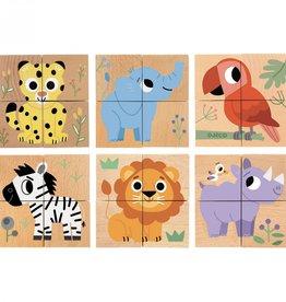 Djeco Puzzel Cubes Wild & Co