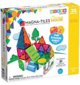 MagnaTiles Clear Colors 28 House