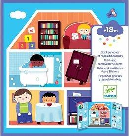 Djeco Herbruikbare Stickers Huis