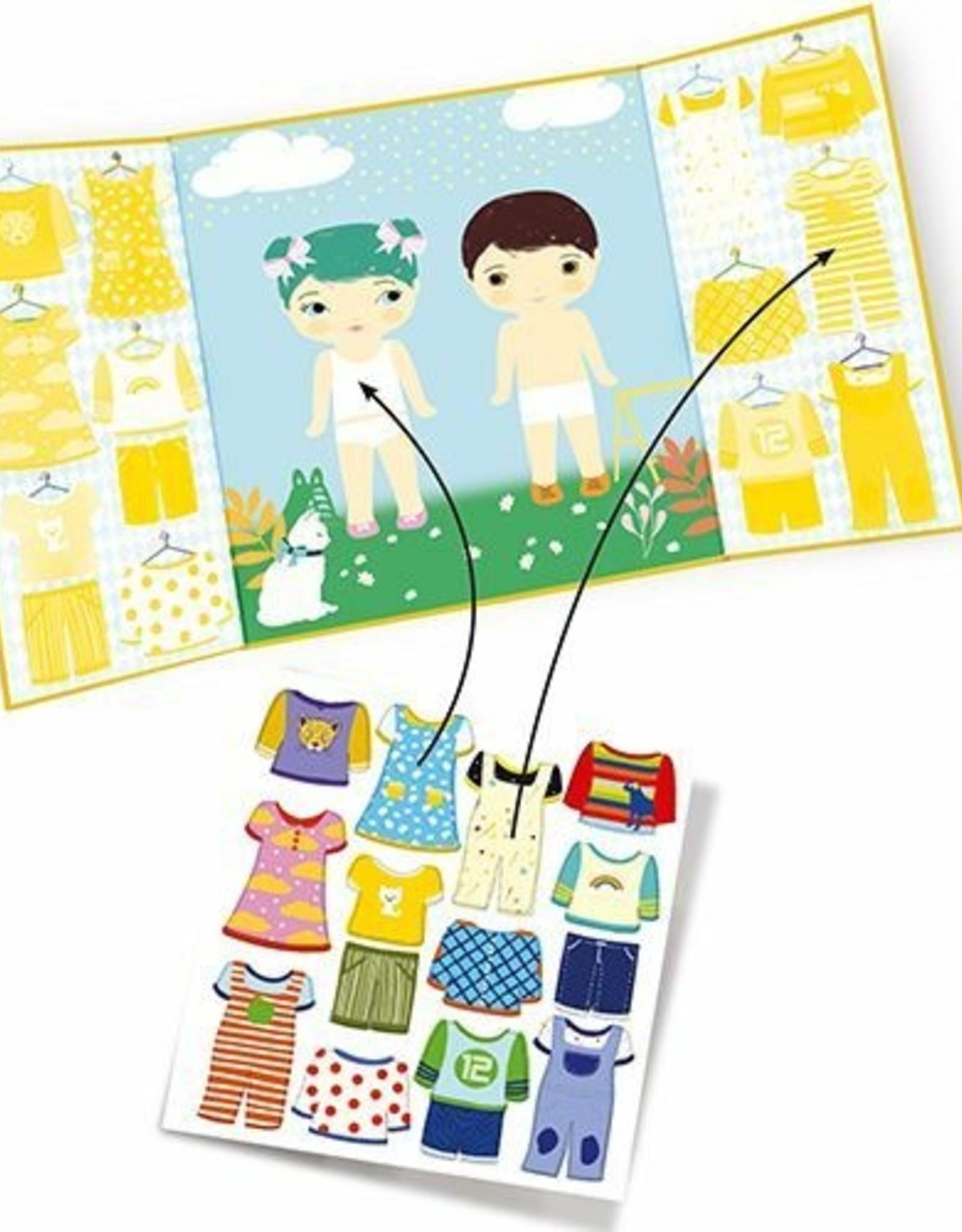 Djeco Herbruikbare Stickers Kleding