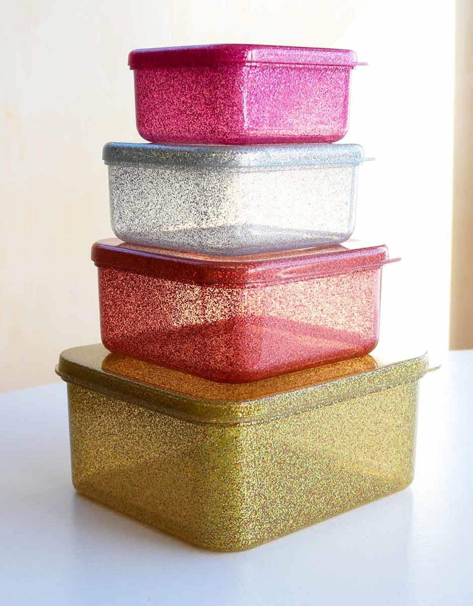 ALLC Lunch- Snackbox Goud Glitter