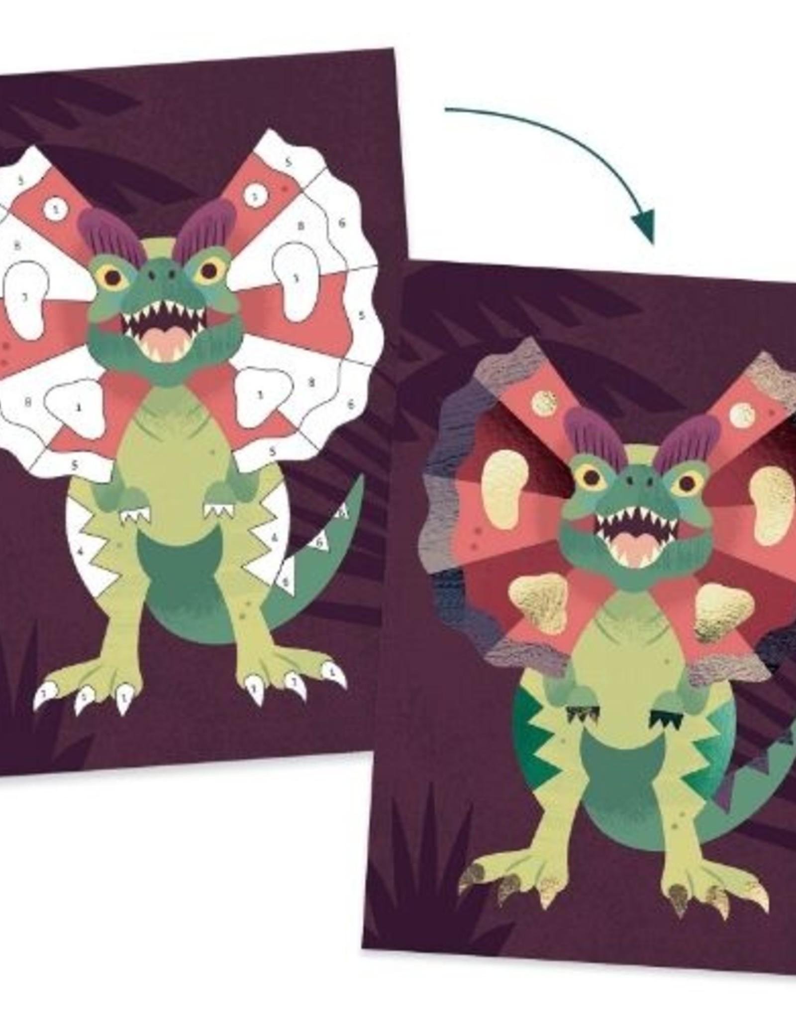 Djeco Glitterschilderij Dino