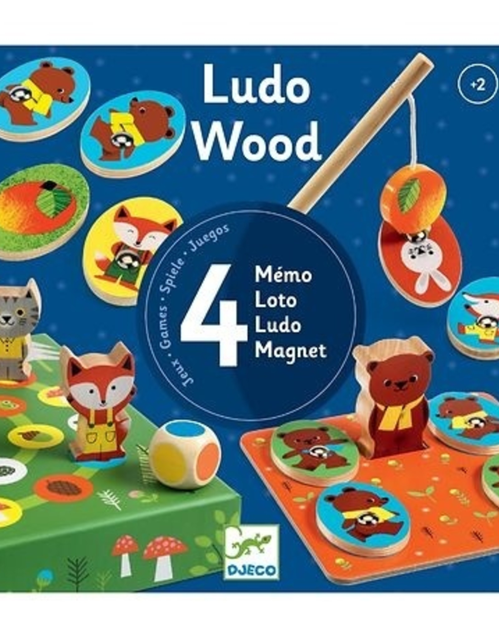Djeco Spellendoos Ludo Wood