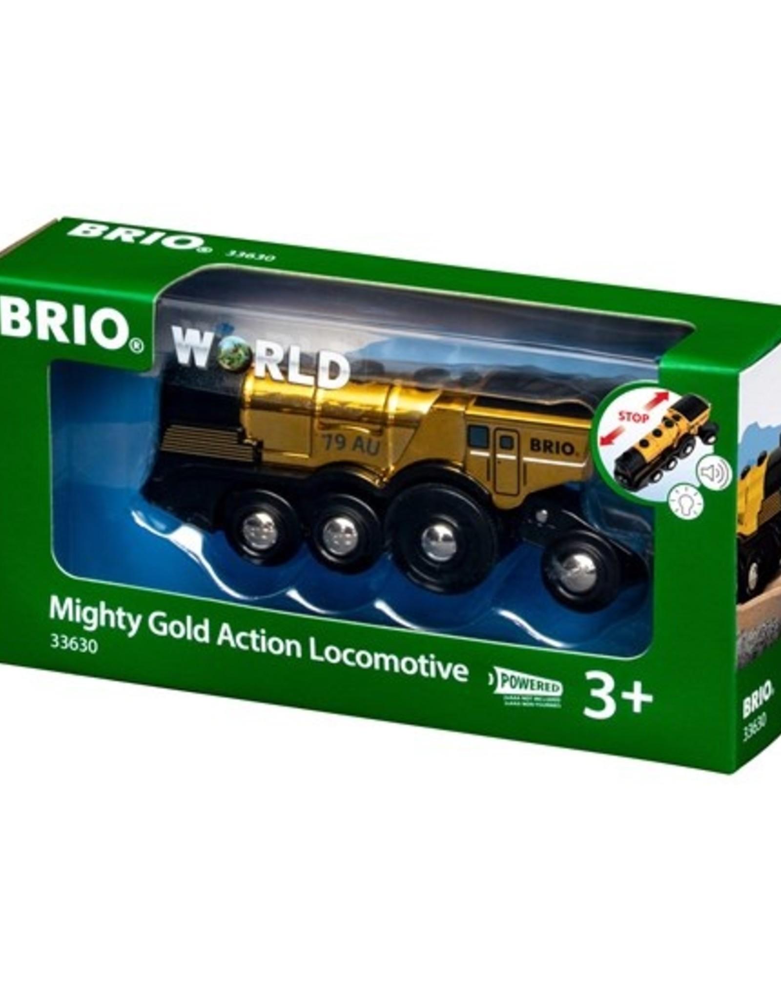 Brio Mighty Gold Action Locomotief