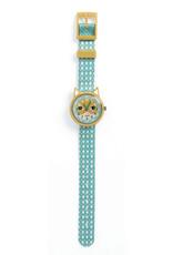 Djeco Horloge Kat Blauw