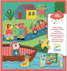 Djeco Herbruikbare Stickers Dieren