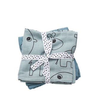 Done by Deer Swaddle 2 pack blue