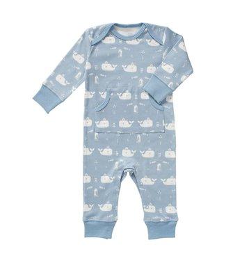 Fresk Pyjama zonder voet Whale blue fog