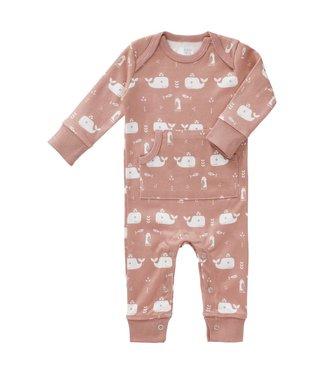 Fresk Pyjama zonder voet Whale mellow rose