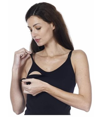 Noppies Seamless nursing tank top zwart