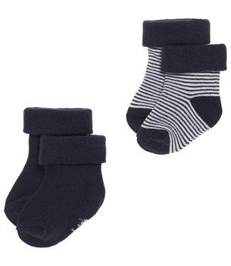 Noppies Socks 2pck Guzz Navy