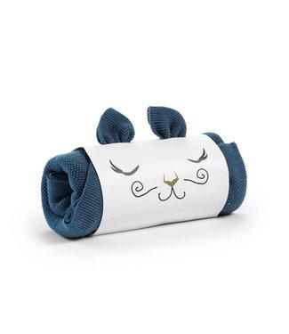 Gebreid deken Tender Blue