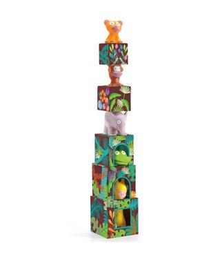 Djeco Stapelblokken jungledieren + dieren
