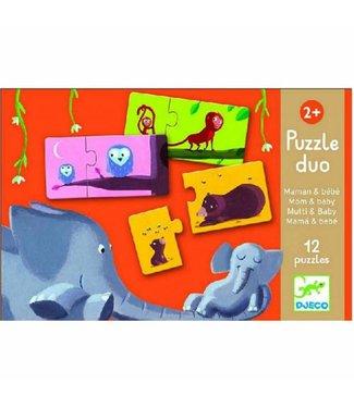 Djeco Duo puzzel Mama en kind