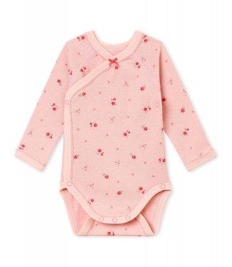 Petit Bateau Eerste body met lange mouwen voor babymeisjes