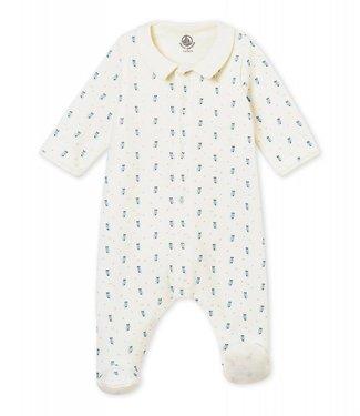 Petit Bateau Baby boy's Bodyjama in print cotton velour