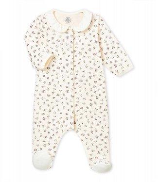Petit Bateau Pyjama in tubic met dessin voor babymeisjes