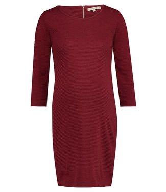 Noppies Dress 3/4 slv Zinnia Dark Red