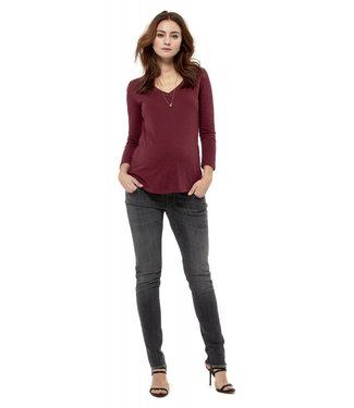 Queen Mum Loos fit T with fancy rib with lurex