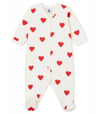 Petit Bateau Pyjama voor babymeisjes Love