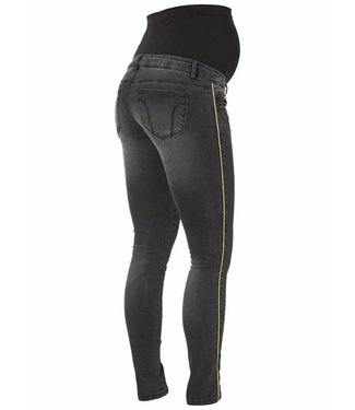 Mama licious MLPAIA SLIM BLACK PIPING JEANS A.