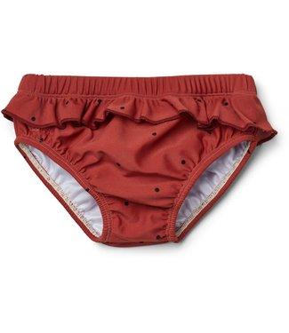 Liewood Elise baby girl swim pants Classic dot rusty