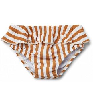 Liewood Elise baby girl swim pants Stripe: Mustard