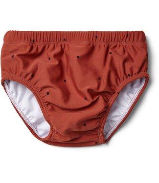 Liewood Frej baby boy swim pants Classic dot rusty