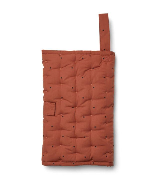 Liewood Wilma changing blanket Classic dot rusty