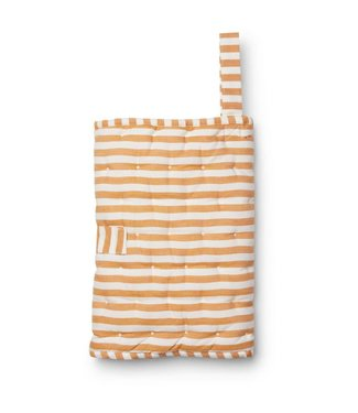 Wilma changing blanket Y/D stripe: Mustard