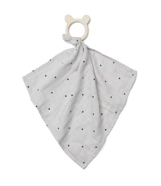 Liewood Dines teether cuddle cloth classic dot dumbo grey