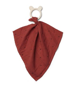 Liewood Dines teether cuddle cloth classic dot rusty