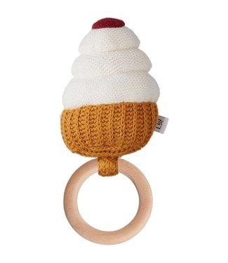 Liewood Aria rattle Cupcake creme de la creme