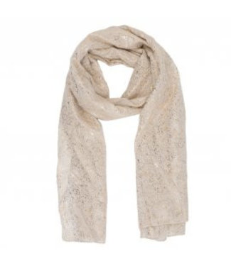 Sjaal beige sparkle