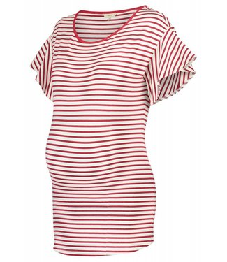 Noppies Tee ss Olivia YD Crimson Stripe